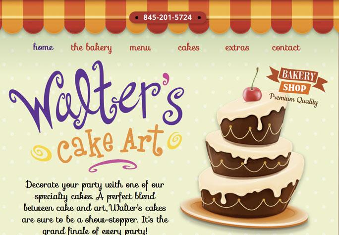 DePinho Website Design for Walter's Cake Art in Mahopac NY