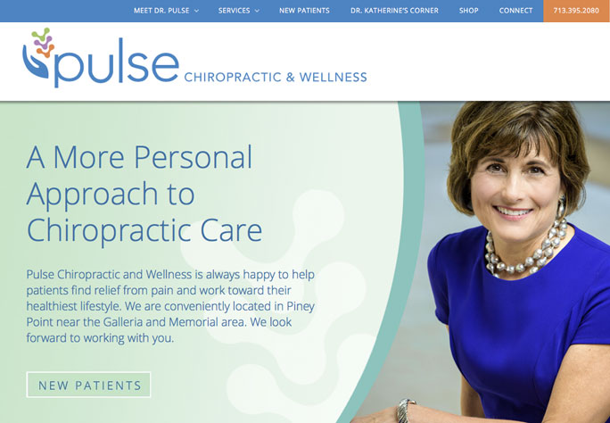 website design for pulse chiropractic