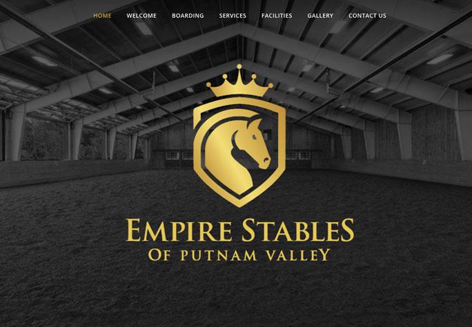 Empire Stables of Putnam, website design-by depinho design of Mahopac