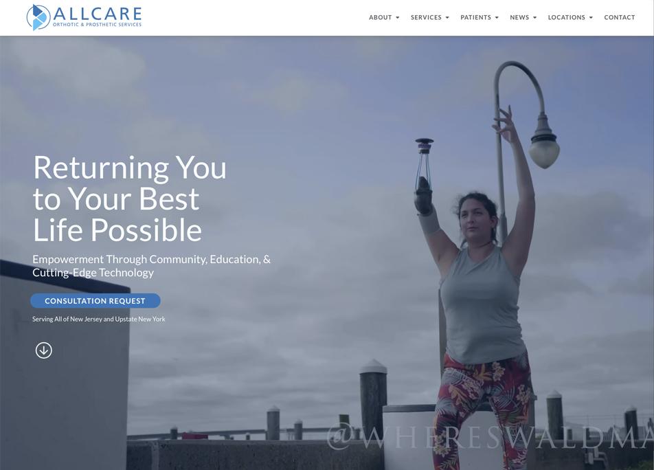 Allcare Website Case Study by DePinho Design