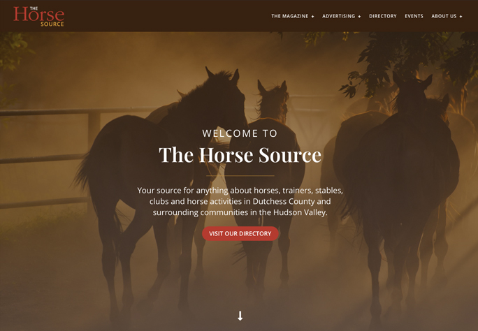 DePinho Website Design for the Horse Source Directory in Mahopac NY